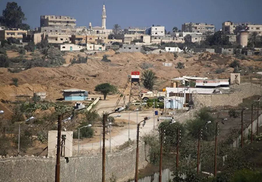 Mısır'ın Gazze sınırındaki gözlem noktaları.