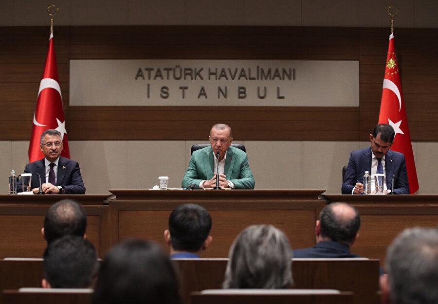 Cumhurbaşkanı Recep Tayyip Erdoğan New York ziyareti öncesi basın açıklaması yaptı.
