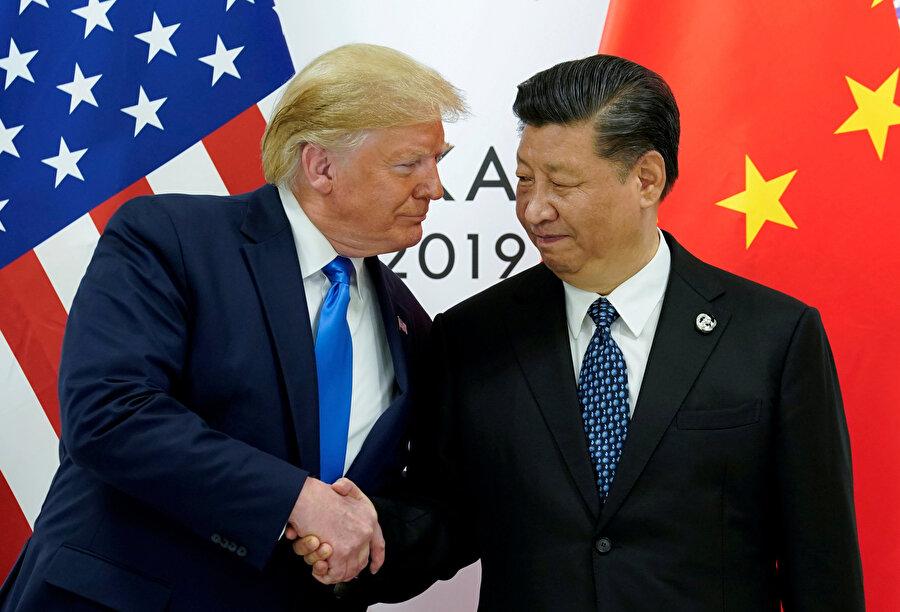 ABD Başkanı Donald Trump ve Çin Devlet Başkanı Şi Cinping
