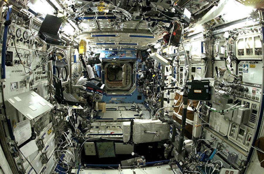 İnsanlığın uzaydaki evi: Uluslararası Uzay İstasyonu.