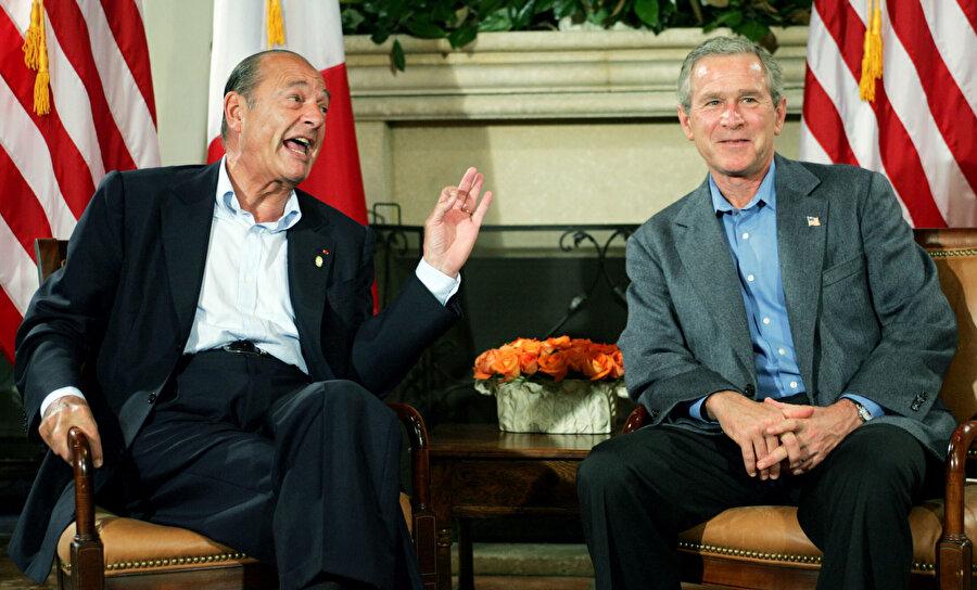 ABD Başkanı George Bush'un Irak işgaline sert bir şekilde tepki göstermişti.