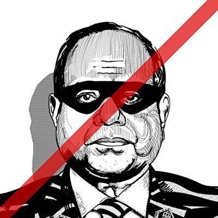Muhamme Ali'nin sosyal medya hesabında sıklıkla paylaştığı Sisi fotoğrafı.