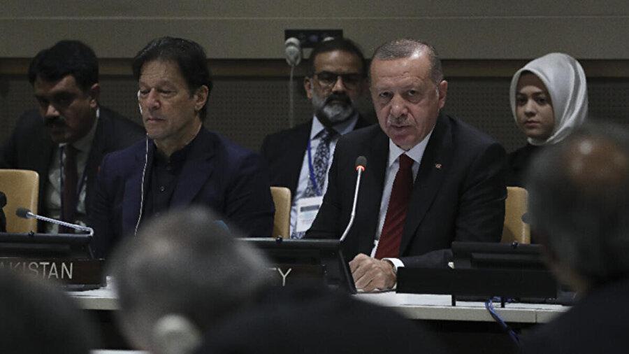 Cumhurbaşkanı Erdoğan, Malezya Başbakanı Mahathir Muhammed ve Pakistan Başbakanı İmran Han BM'de üçlü bir toplantı yapmıştı.