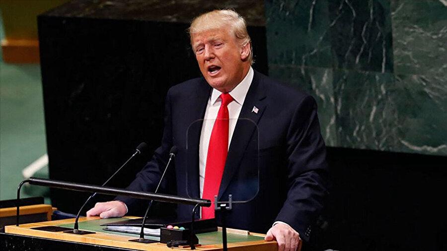"""Trump, Birleşmiş Milletler Genel Kurulu'nda İran'ın nükleer silaha sahip olmasına izin veremeyeceklerini belirterek """"İran yönetimine yaptırımları şiddetlendireceğiz"""" dedi."""