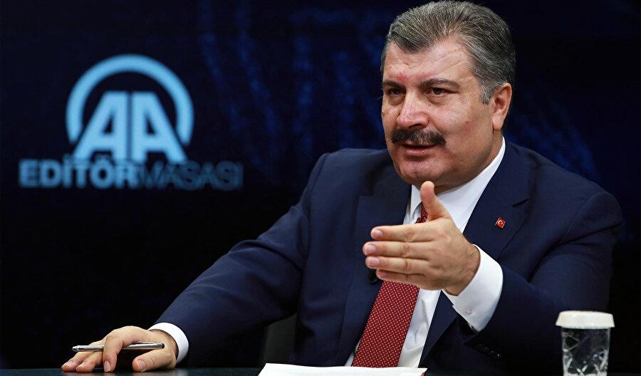 Sağlık Bakanı Fahrettin Koca, kısa süre önce Anadolu Ajansı'nın Editör Masası'na konuk olmuştu. -AA