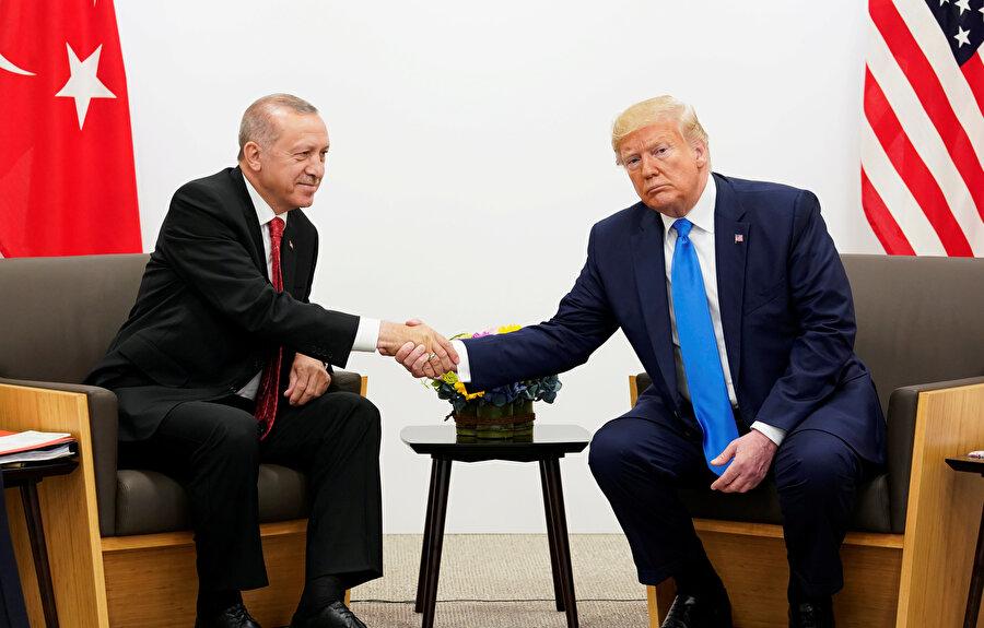 Cumhurbaşkanı Erdoğan ve ABD Başkanı Trump bir araya gelmişti.