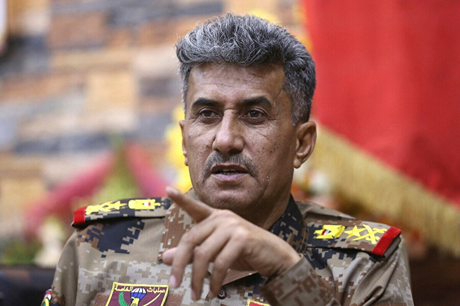 """Elit Terörle Mücadele Güçleri İkinci Komutanı"" General Abdülvahap el Saadi."