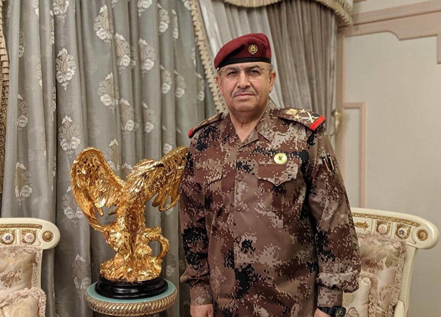"""Irak """"Elit Terörle Mücadele Güçleri Komutanı"""" Talip Şakati."""
