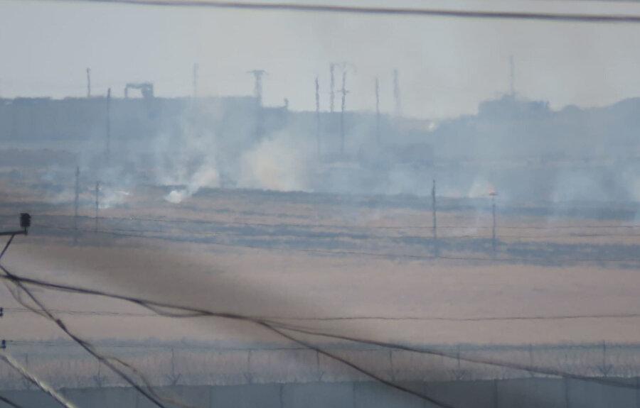 Bölgeden dumanlar yükseliyor
