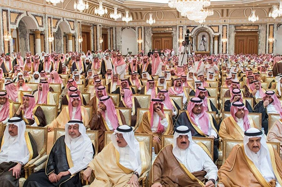 Suudi Arabistan Kraliyet ailesi üyeleri.