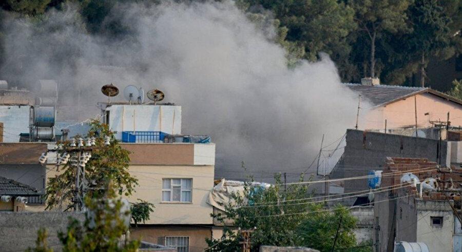 Terör örgütü sivillerin bulunduğu noktalara havan mermisi attı.