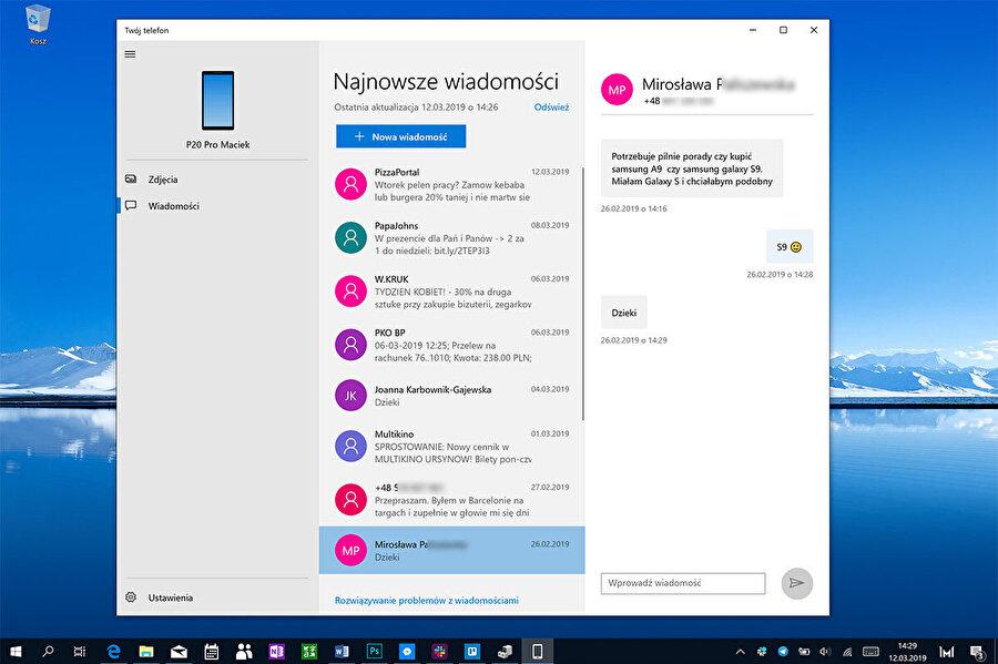 Microsoft, Telefon uygulaması üzerinden Bluetooth vasıtasıyla bilgisayarla bağlantı kuruyor.