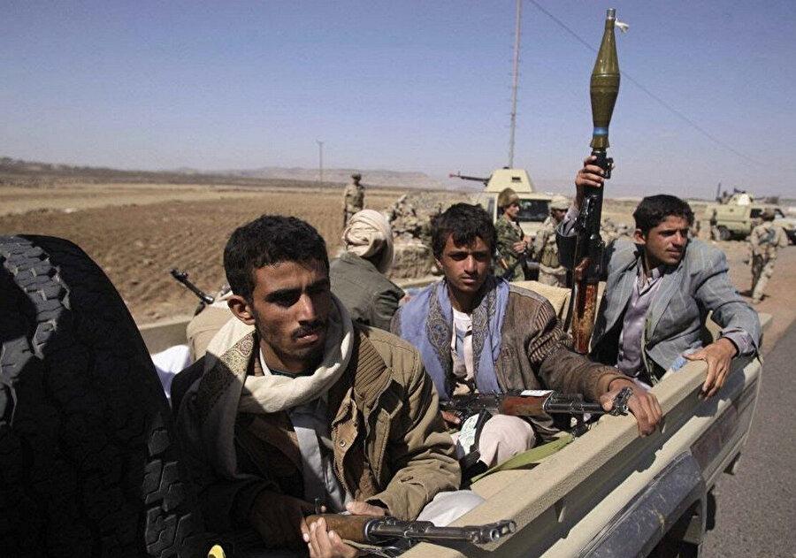 Yemen'deki Husi militanları.