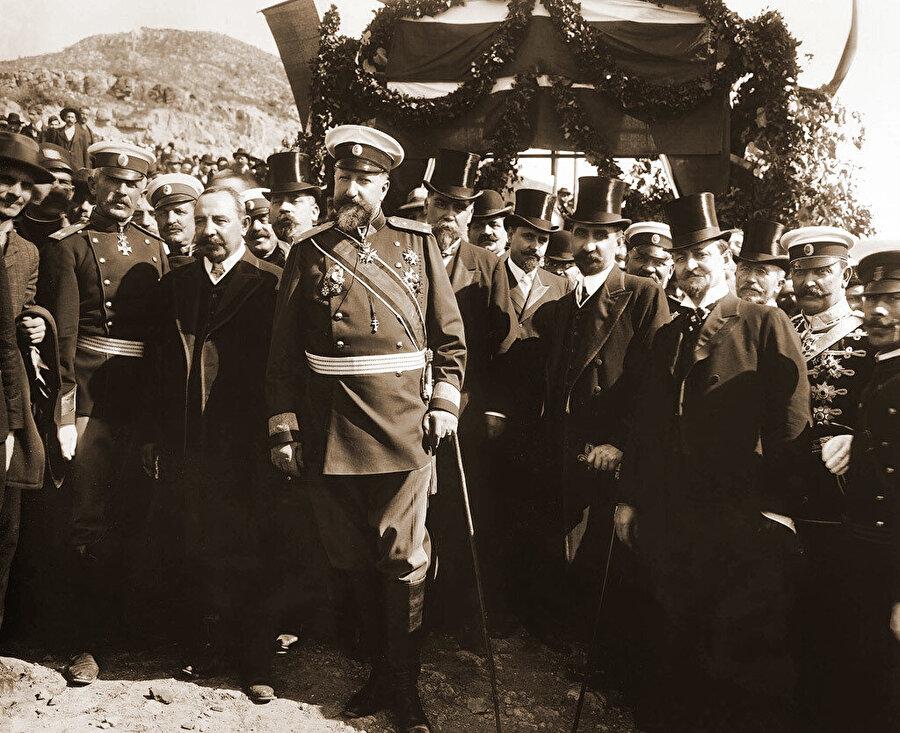 I. Ferdinand'ın katılımıyla, Bulgaristan'ın bağımsızlığının ilanı, 1908.