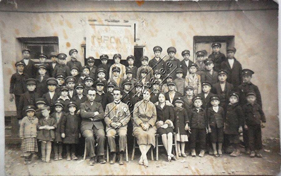Bulgaristan'da bir Türk Okulu.