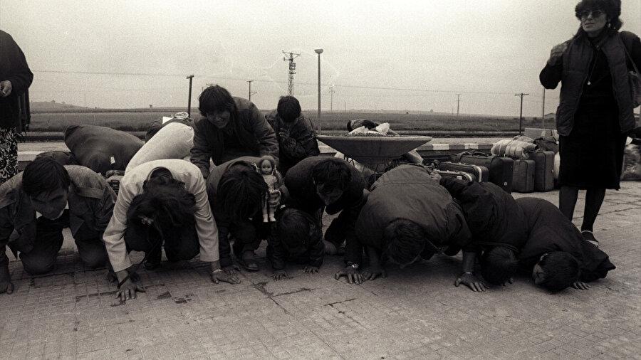 Bulgaristan'dan gelen Müslüman Türkler.