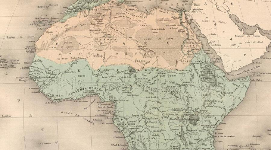 Afrika haritası, 1892.