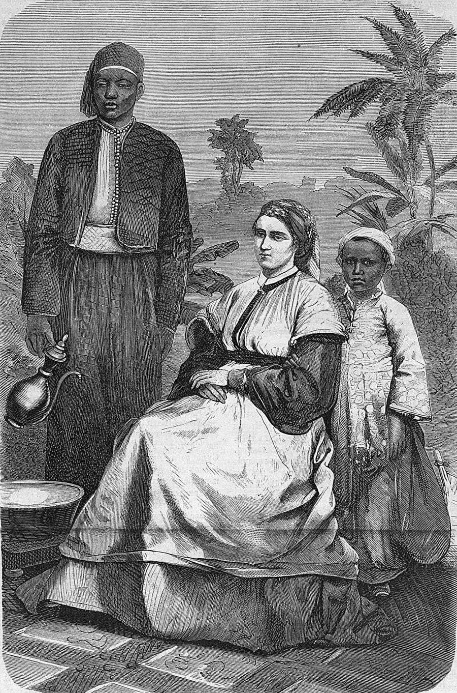Sahra Çölünü geçmeye çalışan ilk Avrupalı kadın olarak bilinen Alexandrine Tinne.