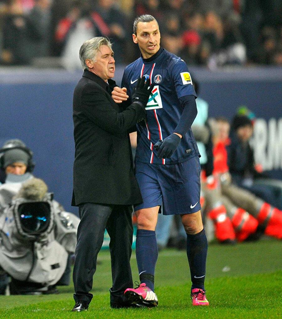 Ibrahimovic ve Ancelotti PSG'de birlikte çalışmıştı.