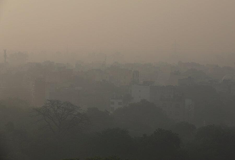 Hava kirliliğinin hangi boyutta olduğunu gösteren bir fotoğraf.