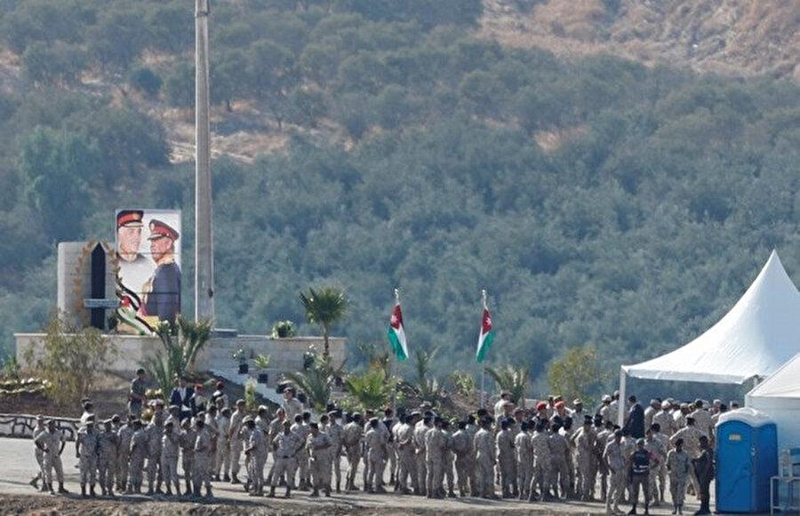 İsrail ile Ürdün arasındaki sınır bölgesi.