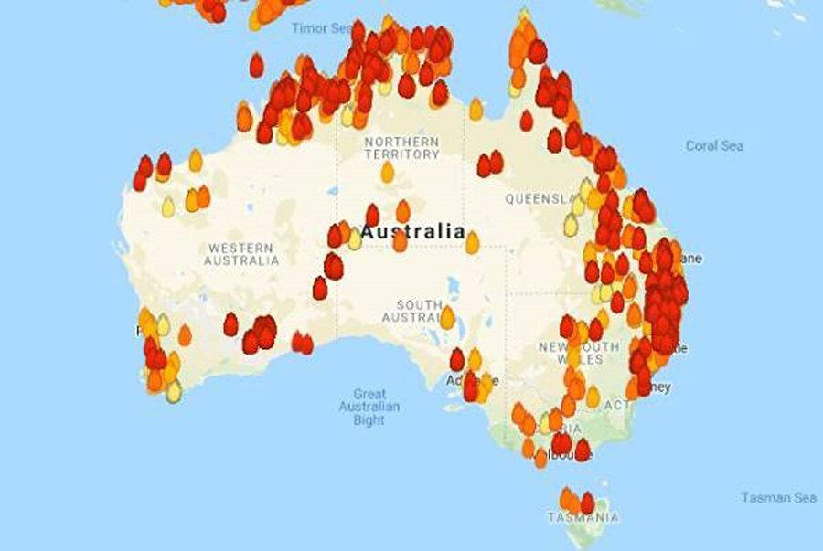 Ülkenin 60 noktasında yangın meydana geldi.