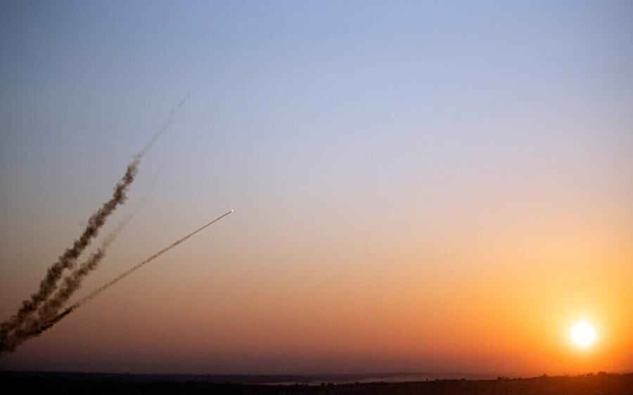 Gazze'den ateşlenen roketler.