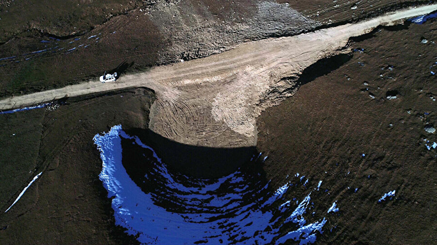 Dipsiz Göl'ün havadan görüntüsü