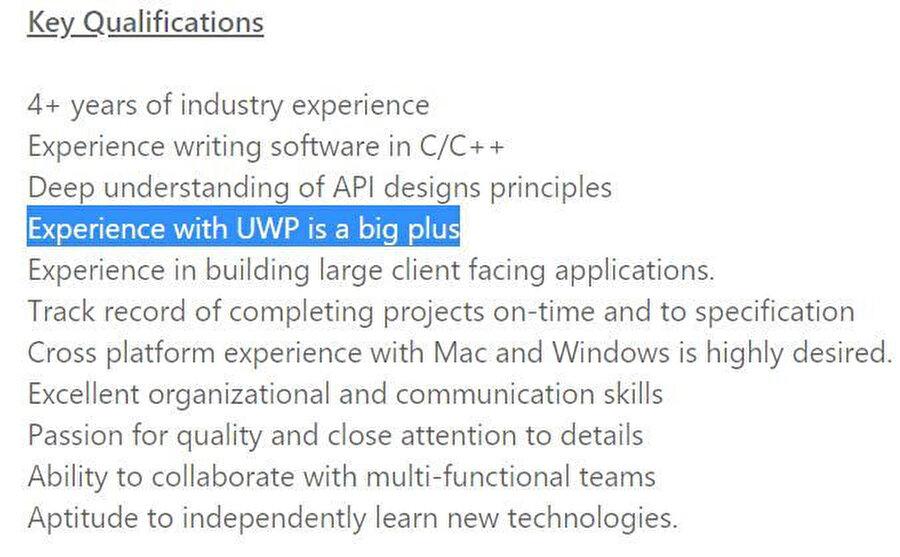 Bu ibare aslında yalnızca Windows bilgisayarlar için değil, Xbox'lar için de servis geliştirilebileceğini gösteriyor.