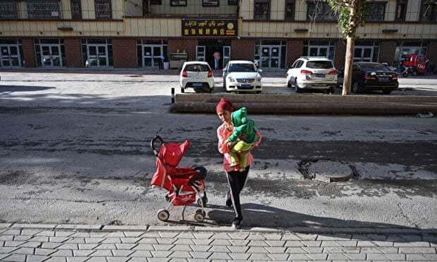 Sincan'daki bir Uygur mahallesi.