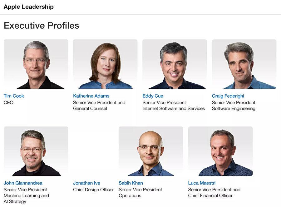 Artık Apple sayfasındaki künyede fotoğrafı da yer almıyor.
