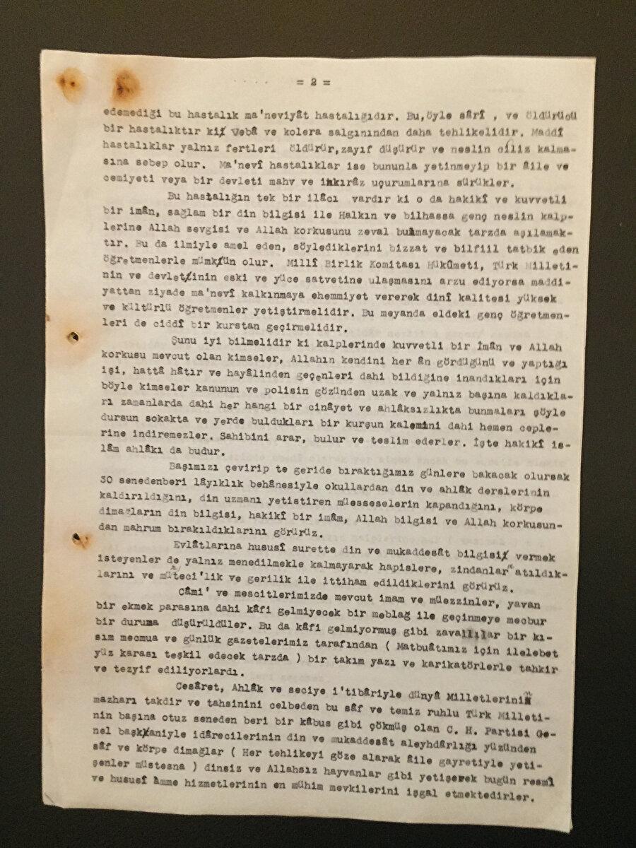 Emekli Albay Seyfeddin Yılmaz mektupunda CHP'nin zulümlerini anlatıyor...