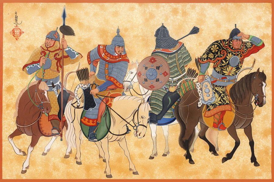 12 ile 15. yüzyıllar arası Moğollar.