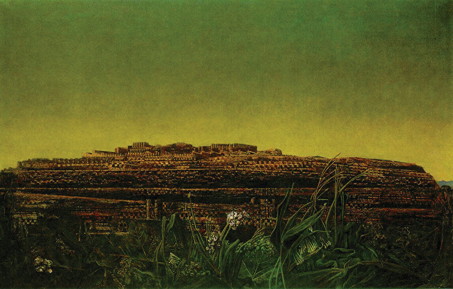 Ian Dallas'ın kitabına ilham veren Marx Ernst'ün The Entire City resmi