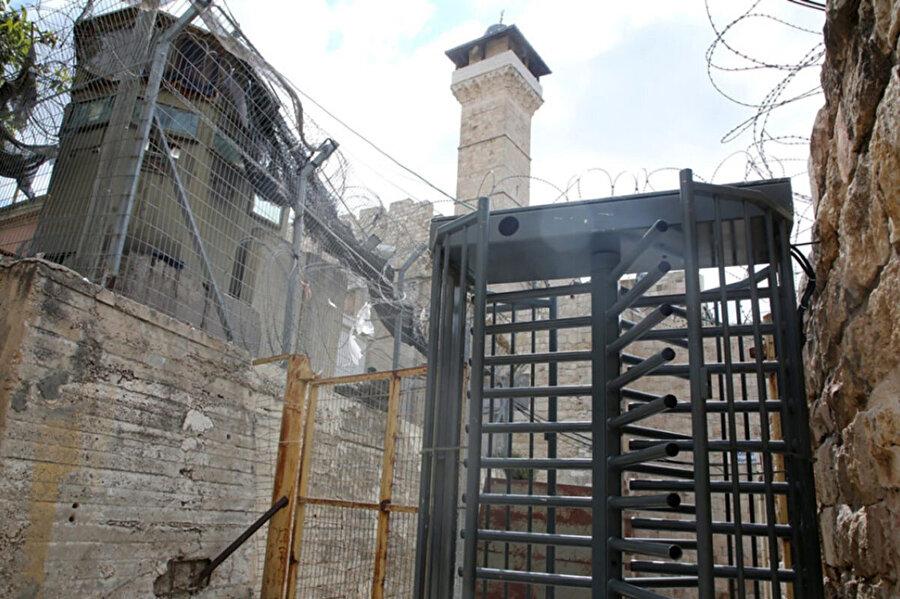 El Halil'deki Harem-i İbrahim Camisi'nin İsrail denetimindeki son hali.