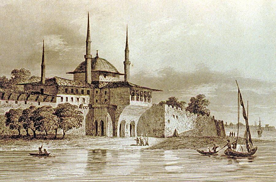 Sinan Paşa Köşkü'nün gravürü.