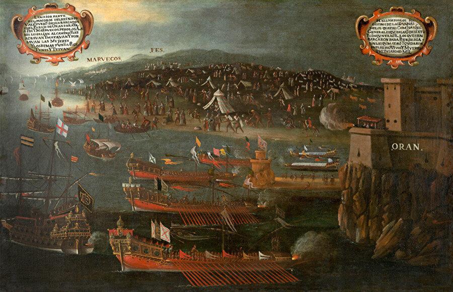 Ressam Vicent Mestre tarafından çizilen, Moriskoların Vehrân'da karaya ayak basışlarının tasvir edildiği resim.