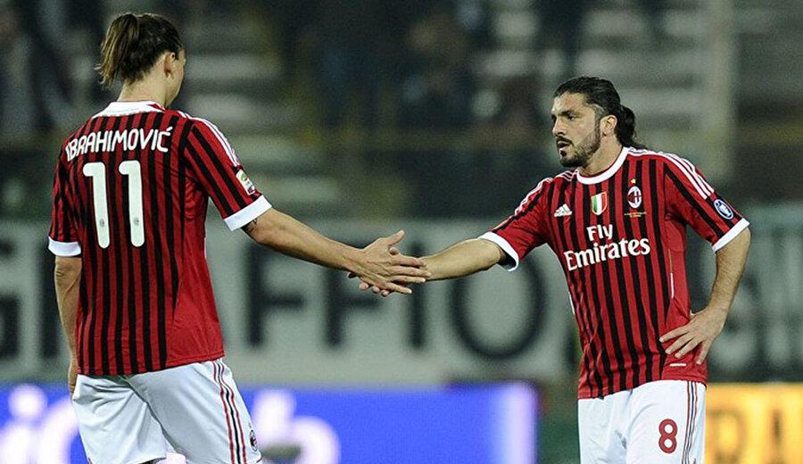 2010-2011 sezonunda Gattuso ve Zlatan aynı Milan forması giymişlerdi.