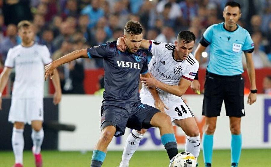 Trabzonspor, Basel ile sahasında oynadığı karşılaşmadan 2-2'lik beraberlikle ayrılmıştı.