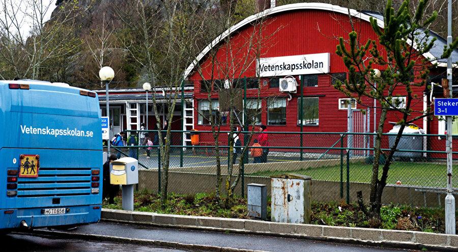 """""""Safirskolan"""" okulunun binası."""