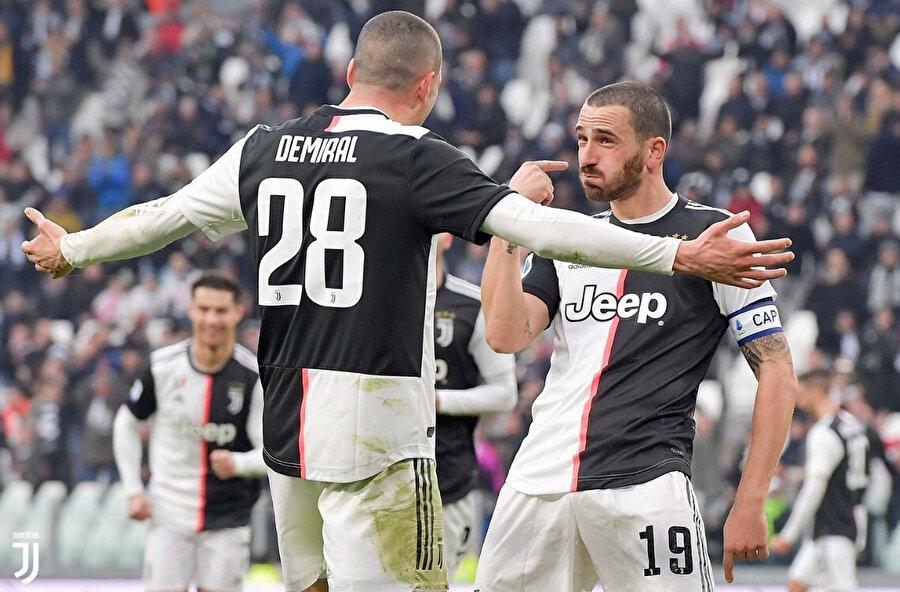 Merih Demiral, Bonucci'nin golünün asistini yaptı.