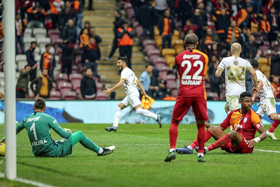Galatasaray 24 puanla 6. sırada bulunuyor.