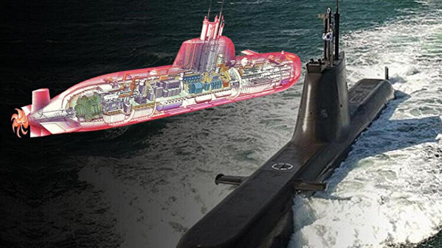 Pirireis denizaltı çizimi