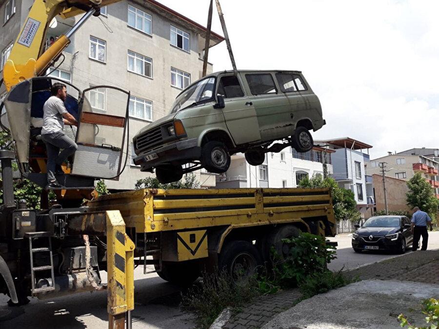Çekilen araç- Arşiv