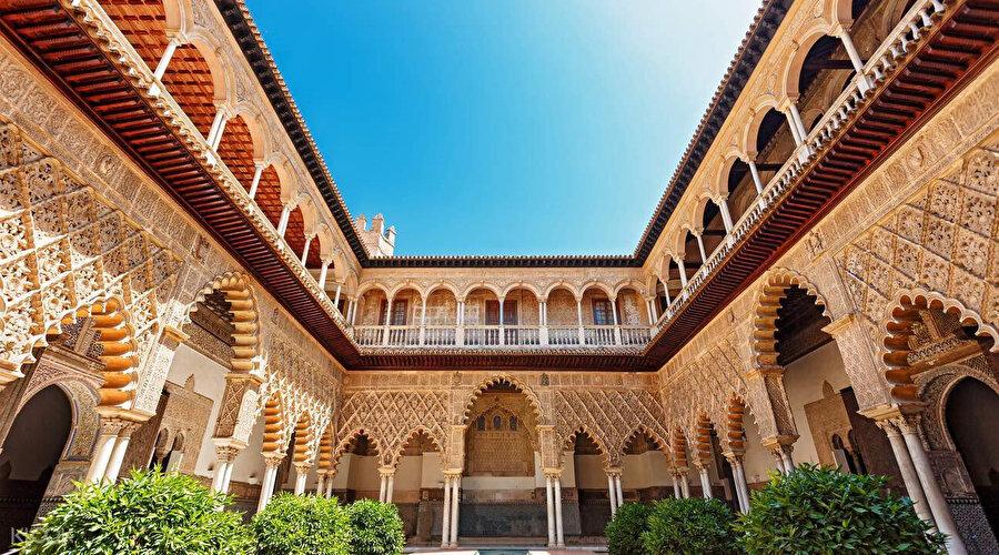 Sevilla'daki Alkazar Sarayı.