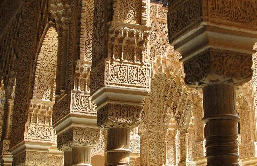 Elhamra sarayı iç detayları.