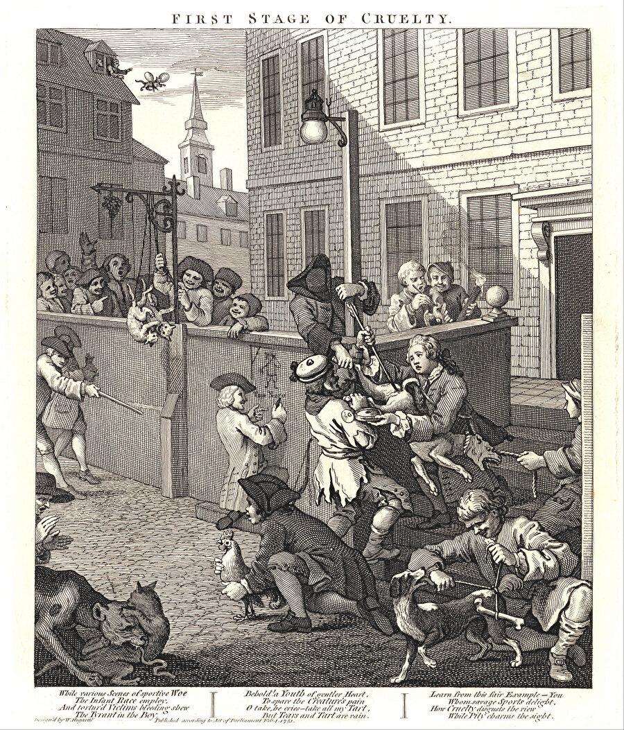 """1730'lu yıllarda Paris'te Saint-Séverin Sokağı'nda Jacques Vincent'ın matbaasında meydana gelen en """"eğlenceli olay"""", burada çalışan bir işçiye göre, isyan havasında gerçekleşen bir kedi katliamıydı."""