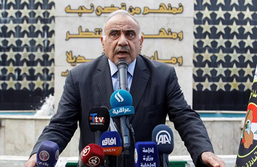 Irak Başbakanı Adil Abdulmehdi.