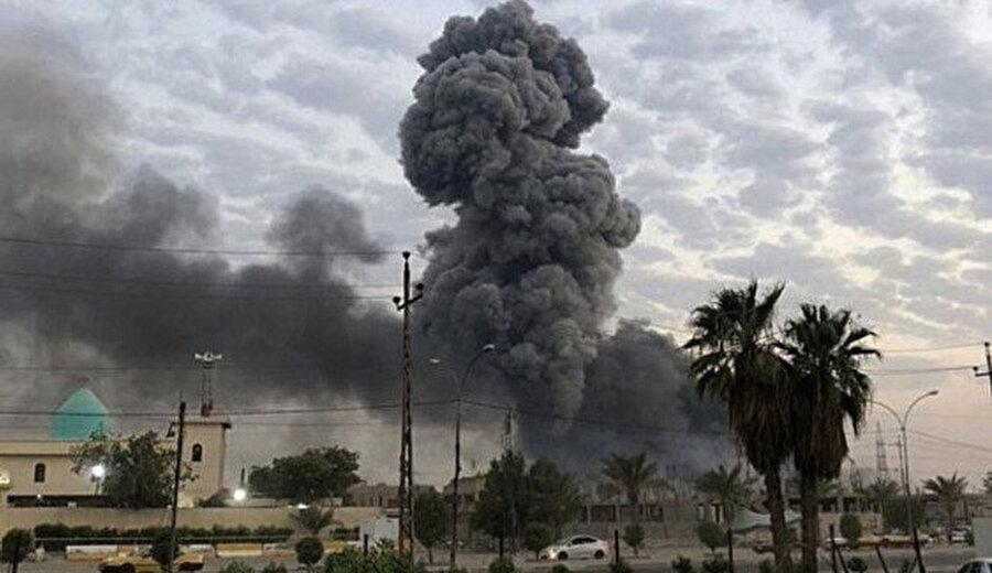 Irak'ta Haşdi Şabi'nin askeri üslerini hedef alan saldırılar.