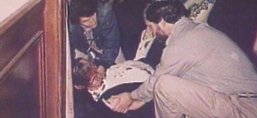Suikast sonucu vurularak öldürülen Haham Meir Kahane.